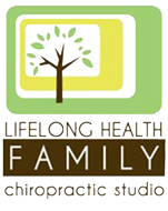 lifelong health family chiropractic studio logo mobile
